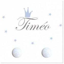 Porte manteau personnalisable prince Timéo carré