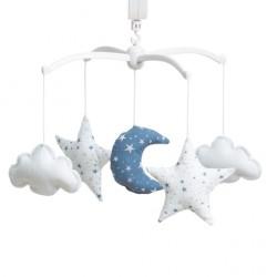 Mobile étoiles magiques bleu marine