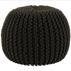 Pouf maille anthracite