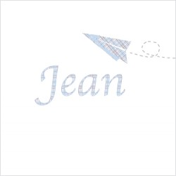 Sticker prénom avion Petit Jean