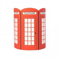 Abat jour ou suspension cabine téléphonique anglaise personnalisable