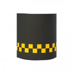 Abat jour ou suspension noir damier jaune