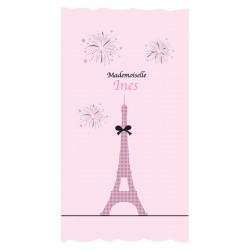 Rideau Tour Eiffel Mademoiselle personnalisable