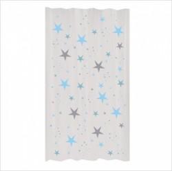 Rideau étoiles magiques bleu ciel