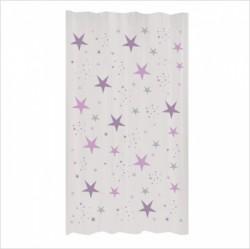 Rideau étoiles magiques mauves
