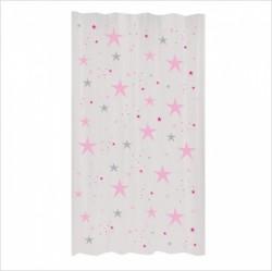 Rideau étoiles magiques roses