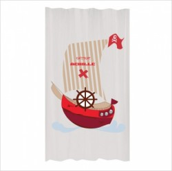 Rideau Bateau pirate rouge