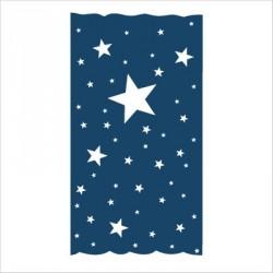 Rideau OSCAR  étoiles blanches fond marine