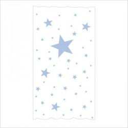 Rideau OSCAR  étoiles bleu ciel fond blanc