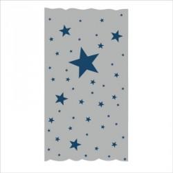 Rideau OSCAR  étoiles marines fond gris