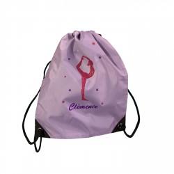 sac à dos gymnaste rose et violet pailletée personnalisable