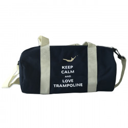 Sac de sport marine Keep calm and love trampoline