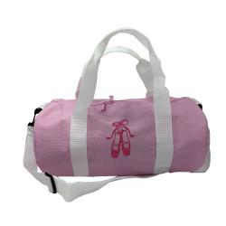 Sac de sport rose chaussons de danse rose pailleté personnalisable
