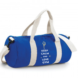 Sac de sport bleu keep calm and love Gym