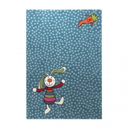 Tapis Rainbow Rabbit bleu