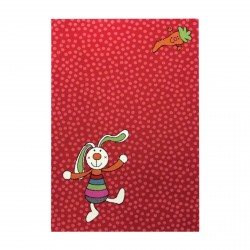 Tapis Rainbow Rabbit rouge