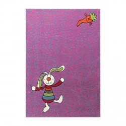 Tapis Rainbow Rabbit rose