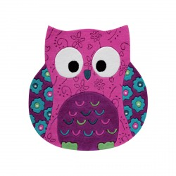 Tapis chouette Little Owl rose