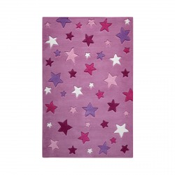 Tapis étoiles Simple Stars rose