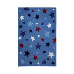 Tapis étoiles Simple Stars bleu
