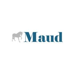 Sticker prénom cheval bleu canard personnalisable