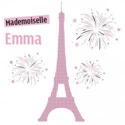 Sticker tour Eiffel et ses feux d'artifices