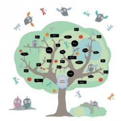 Sticker arbre de la classe bleu