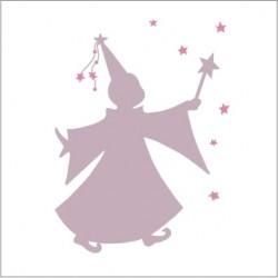 Sticker fée des étoiles violet