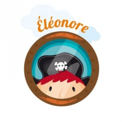 Sticker hublot pirate Eléonore
