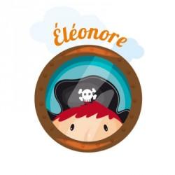 Sticker hublot pirate Eléonore