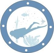 Sticker hublot Plongeur