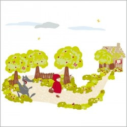 Sticker petit chaperon rouge