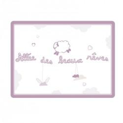 Sticker Plaque de porte - Allée des beaux rêves violet