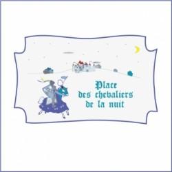 Sticker Plaque de porte - Chevaliers