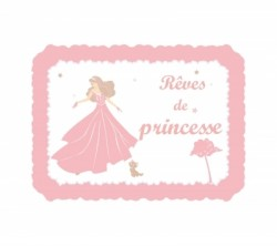 Sticker Plaque de porte - Rêves de princesse