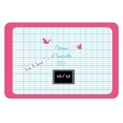 Sticker Plaque de porte  ardoise rose