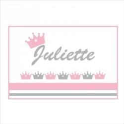 Sticker Plaque de porte couronne Juliette