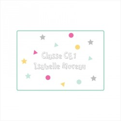 Sticker Plaque de porte de la classe