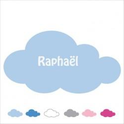 Sticker Plaque de porte nuage personnalisable