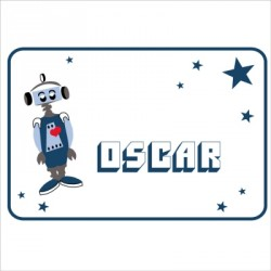 Sticker Plaque de porte robot Oscar