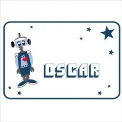 Sticker Plaque de porte robot Oscar