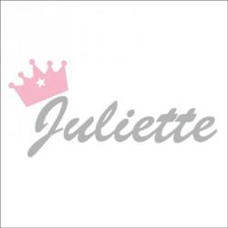 Sticker prénom couronne Juliette gris