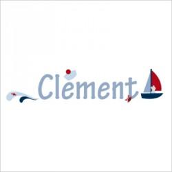 Sticker prénom matelot Clément
