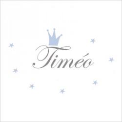 Sticker prénom prince Timéo