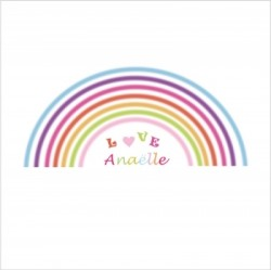 arc en ciel lili pouce stickers tapis luminaires personnalis s. Black Bedroom Furniture Sets. Home Design Ideas