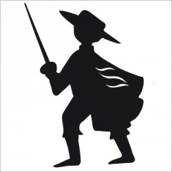Sticker zorro noir