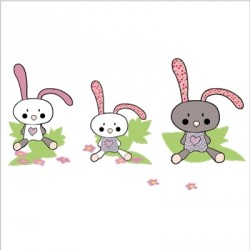 Stickers 3 petits lapins