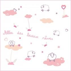 Stickers Allée des beaux rêves rose