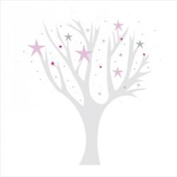 Stickers arbre étoiles magiques