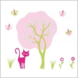 Stickers arbre l'arrivée du printemps